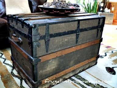 antique wood steamer trunk coffee table | house ideas | pinterest