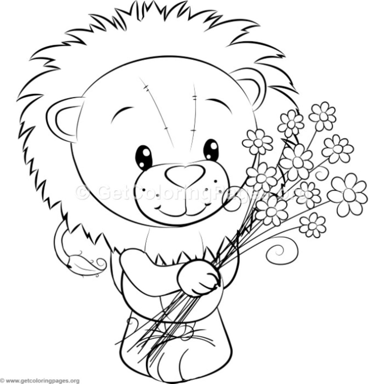 Little Lion 7 Coloring Pages Getcoloringpages Org Cute
