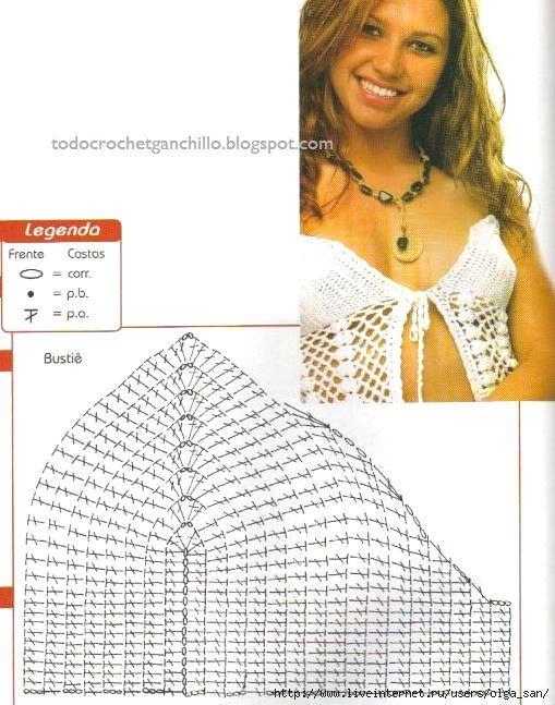 Corpiños Crochet | patrones | Pinterest | Cuerpo, El lado y Calor