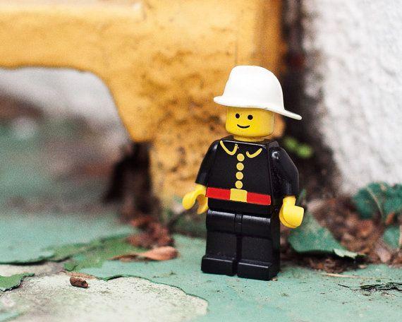 The Fireman  Lego Let Loose  10x10 inch print by LegoLetLoose, $20.00