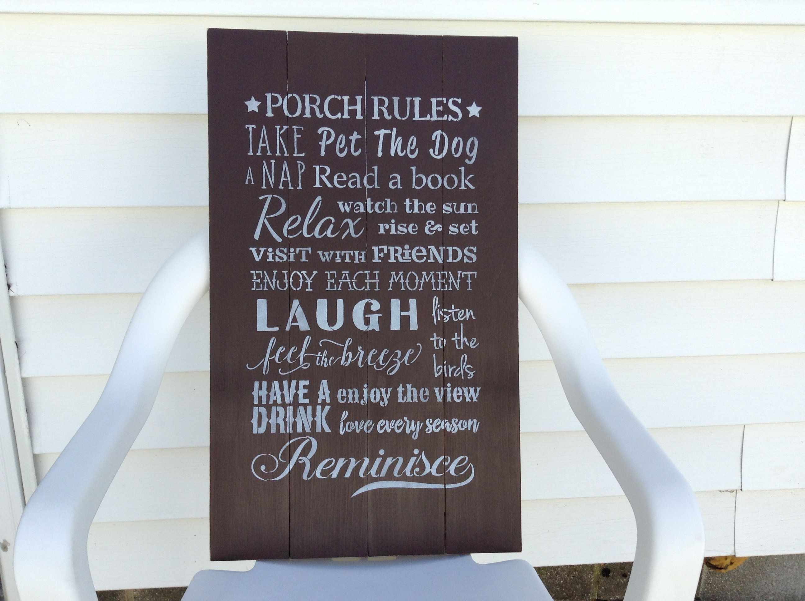 Large 24 By 14 Porch Rules Sign Front Porch Decor Summer Porch Decor Outdoor Summer Decor Back Porch Sign Outdoor Wall Sign Rustic In 2020 Porch Rules Sign Front Porch Decorating