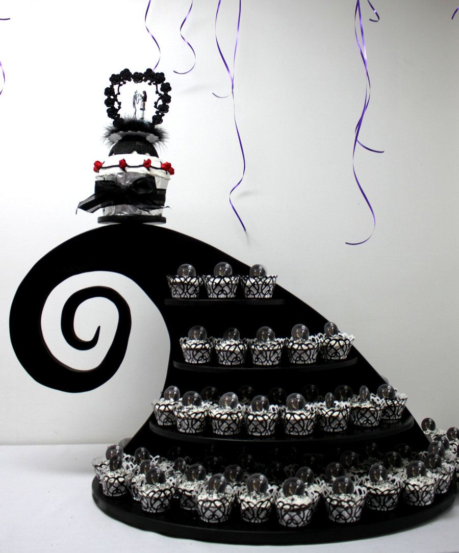 Nightmare before christmas cupcake stand for a weddding by