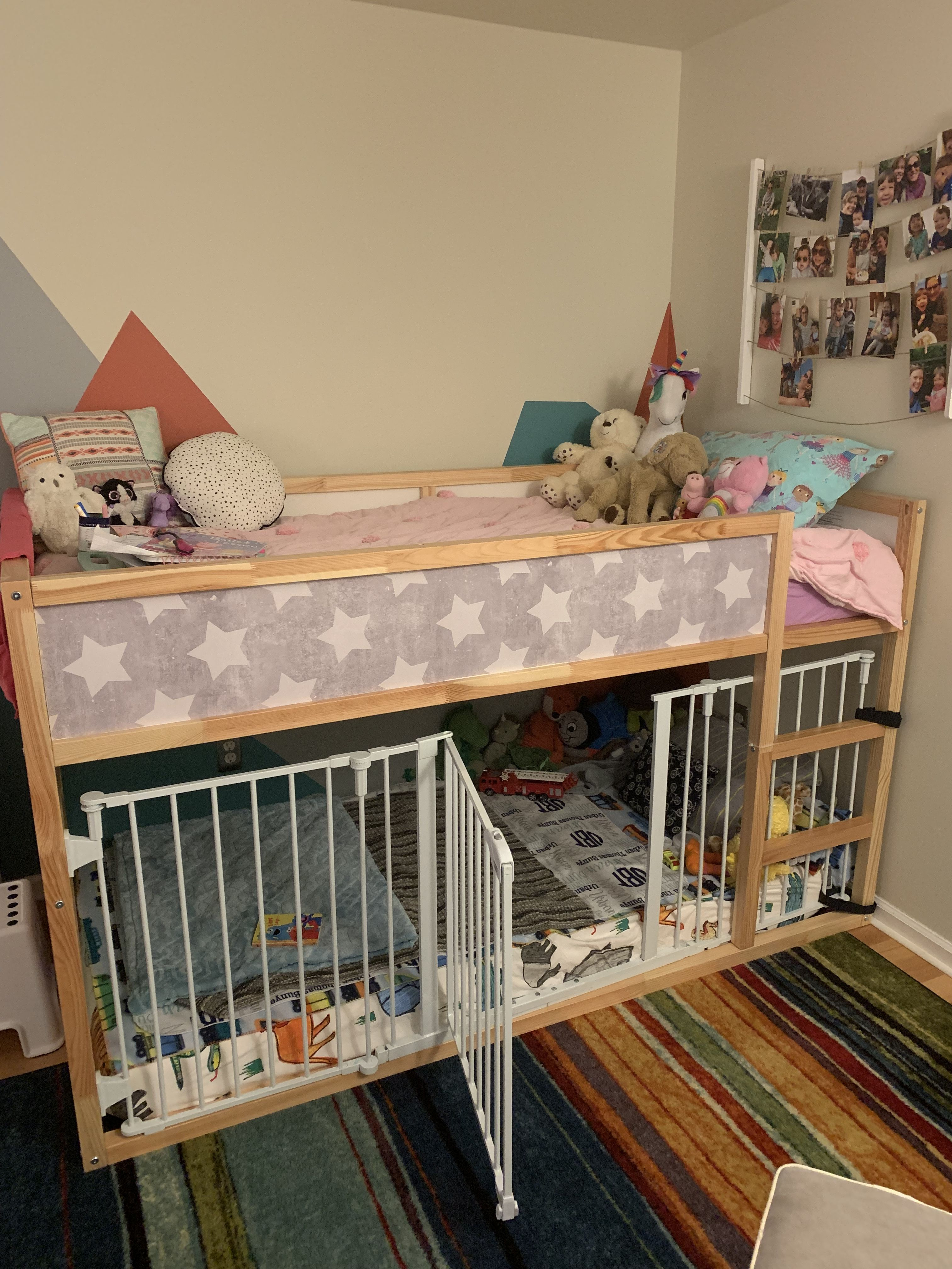 Giant Toddler Crib Bottom Bunk We Created This Giant Crib On The