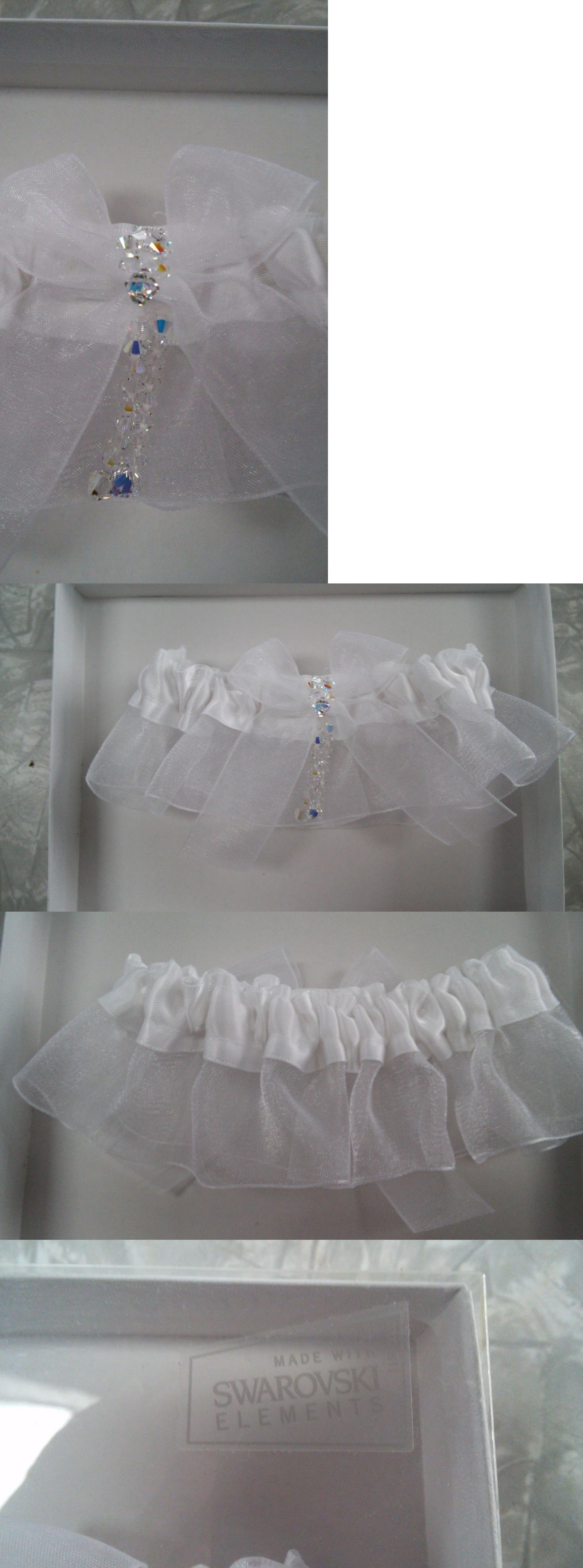 6511ecdbb19 Garters 15718  Herta Littrell Bridal Garter Made With Swarovski Elements  Wedding Crystal Bling -  BUY IT NOW ONLY   38.98 on eBay!
