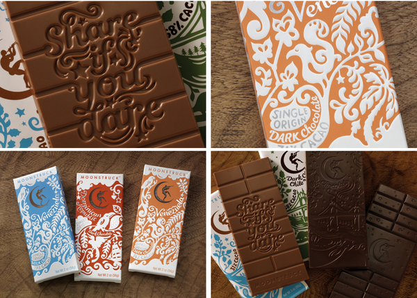 #packaging LOVE + chocolate with a little message - oh how wonderful