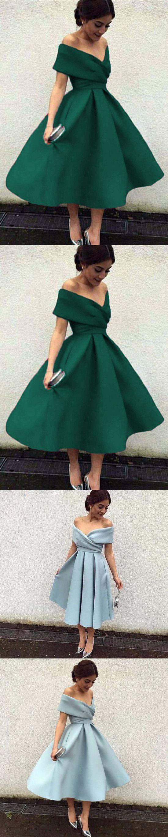 Short prom dressgreen prom dressoff shoulder prom gown m