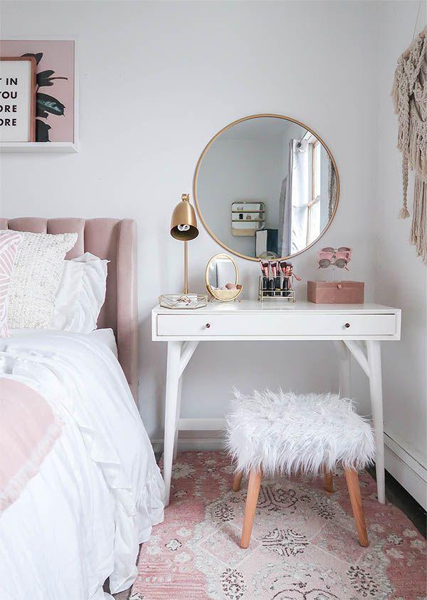 15 Super Cool Vanity Ideas For Small Bedrooms | Ideen für ...