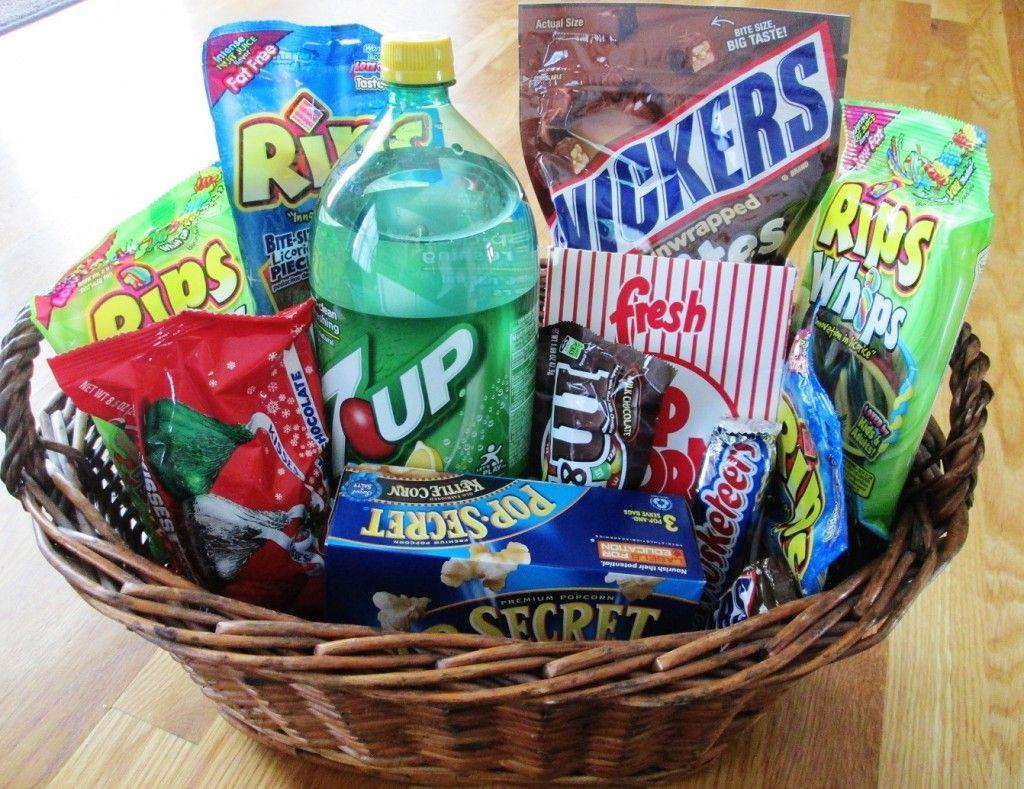 homemade gift baskets ideas - Google Search   Movie night ...