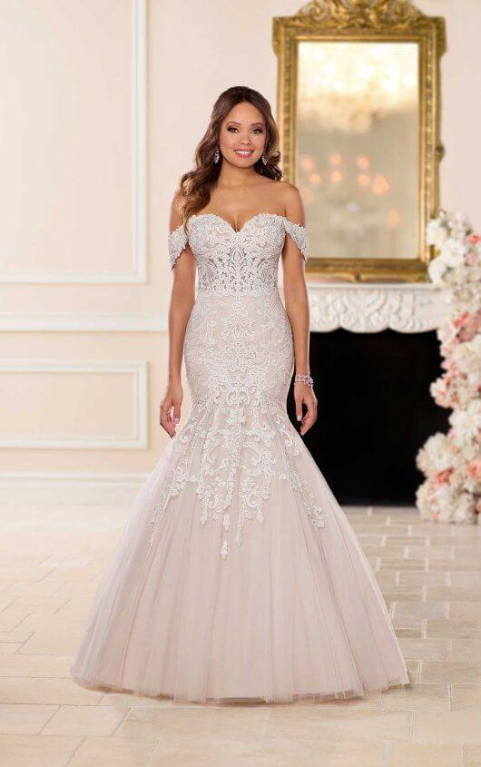 Lavish Fit and Flare Wedding Dress in 2019  Stella York