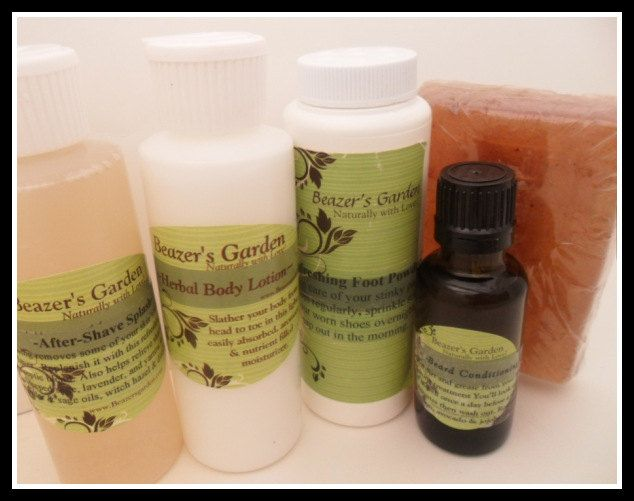 Mens SkinCare Set- Natural- Herbal. $48.00, via Etsy.