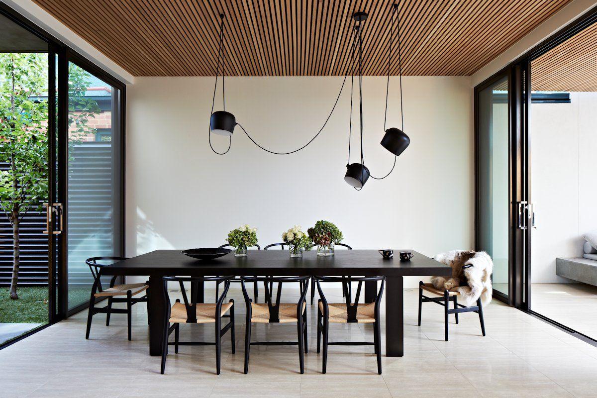 Os 180414 22 interiores comedor minimalista for Iluminacion minimalista interiores