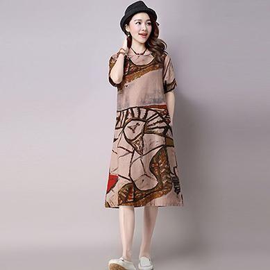 Linen Dress Online Shopping India Summer Dress Women 2017 Hippie Boho Plus  Size Vestidos Ukraine Floral Mori Girl Vintage Long 503a2be69