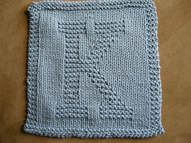 This Site Has Knit Patterns For the Alphabet. Use for Washcloth ...
