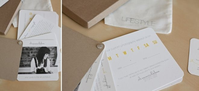 Elisa Copeland's branding. Love this session reminder card.