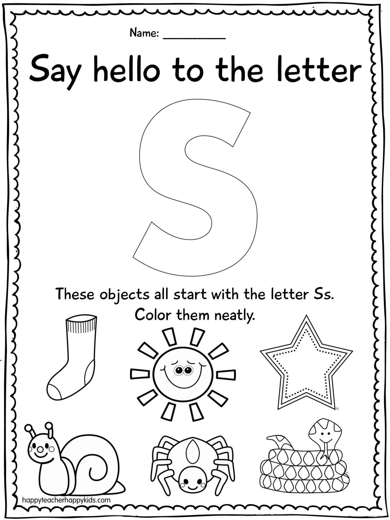 10 Shapes Maze Letter S Worksheet Preschool
