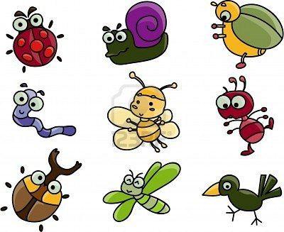 Cute Cartoon Of Many Bugs Cute Cartoon Cartoon Clip Art Cute