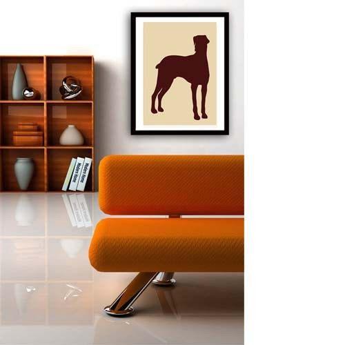 Doberman Art Fine art print , Doberman silhouette art