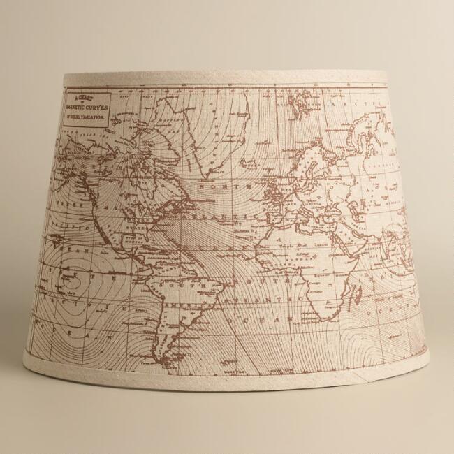 World Market Lamp Shades Vintage World Map Table Lamp Shade  Table Lamp Shades Antique Maps