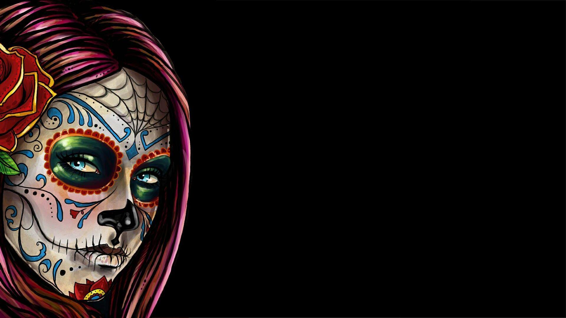 Artistic Sugar Skull Wallpaper Skull Pictures Sugar Skull Wallpaper Skull Wallpaper