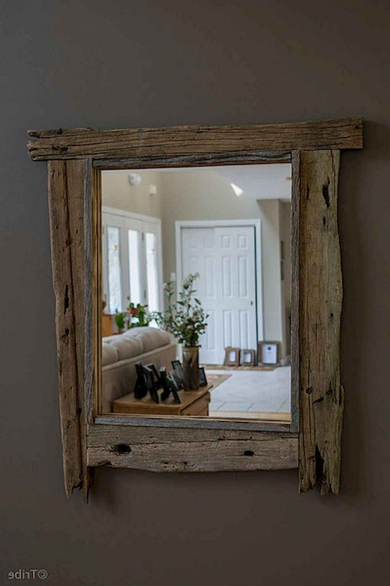 33+ Awesome DIY Rustic Mirror for Bedroom Decorating Ideas ...