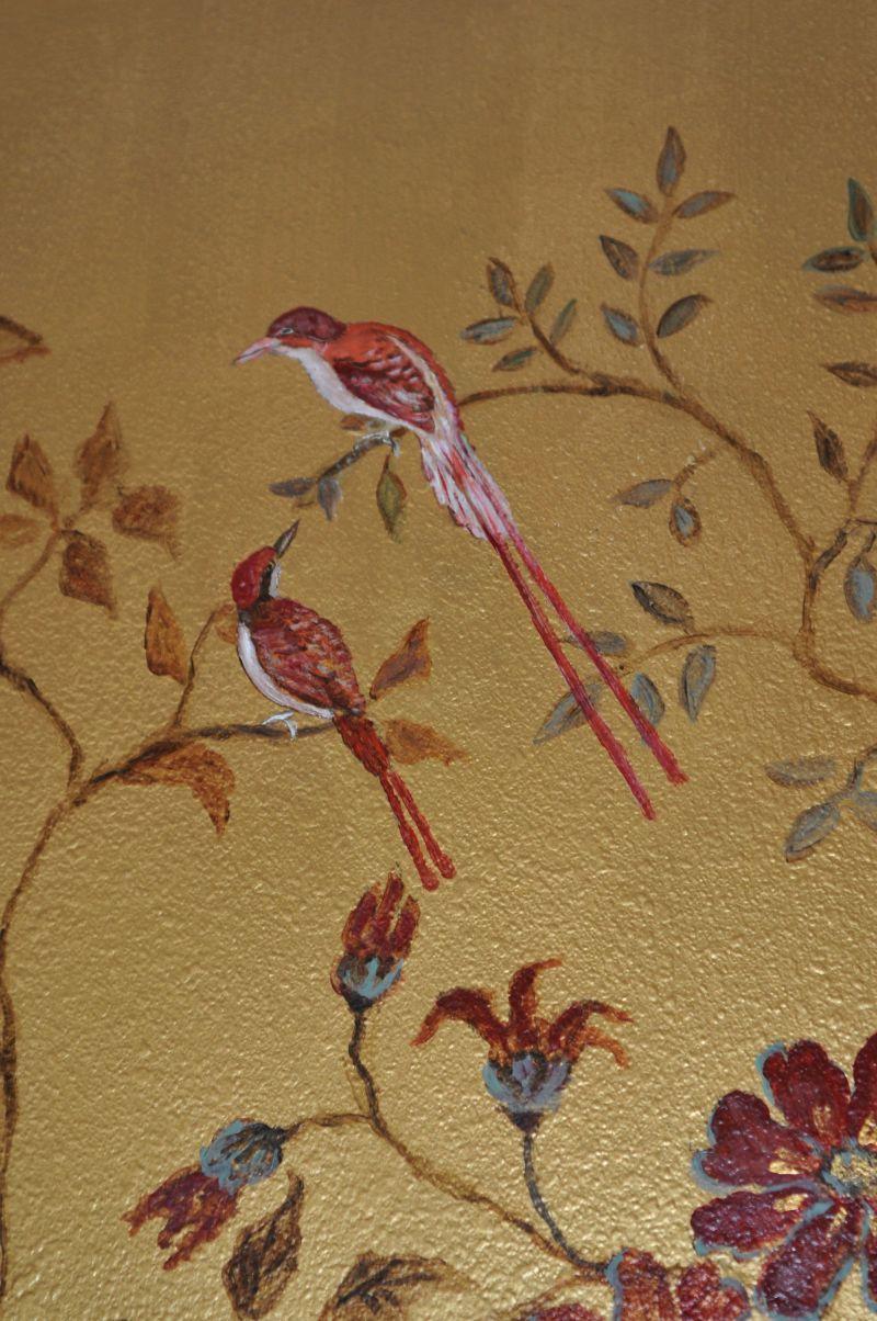 hand painted wallpaper | wall treatment/murals/frescoes | pinterest