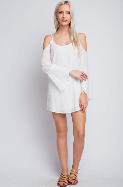 36dd60bbe886 Marina White Bell Sleeve Dress