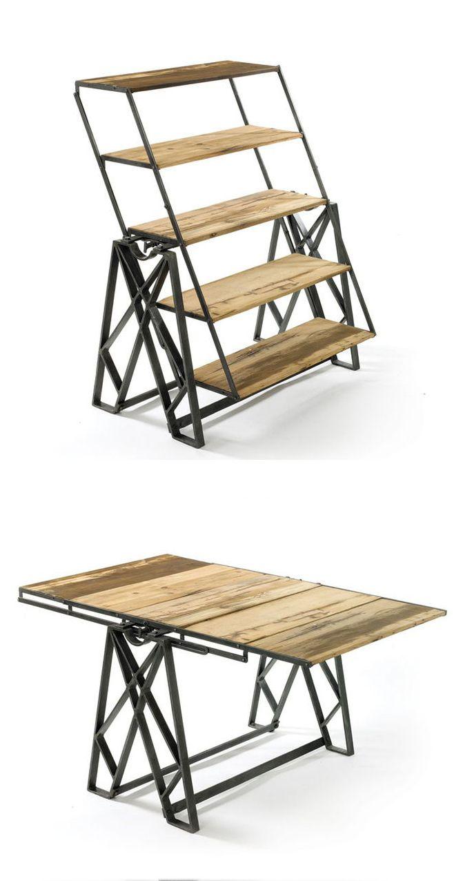 Convertible bookcase table furniture pinterest convertible