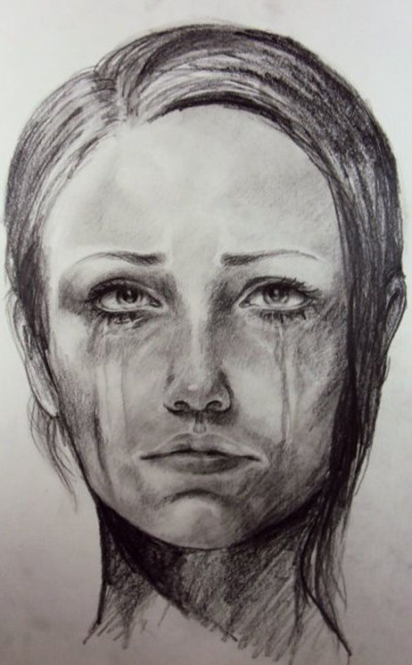 How To Draw A Sad Face :