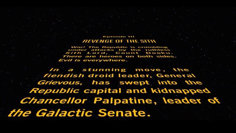Star Wars Episode Iii Revenge Of The Sith Opening Crawl