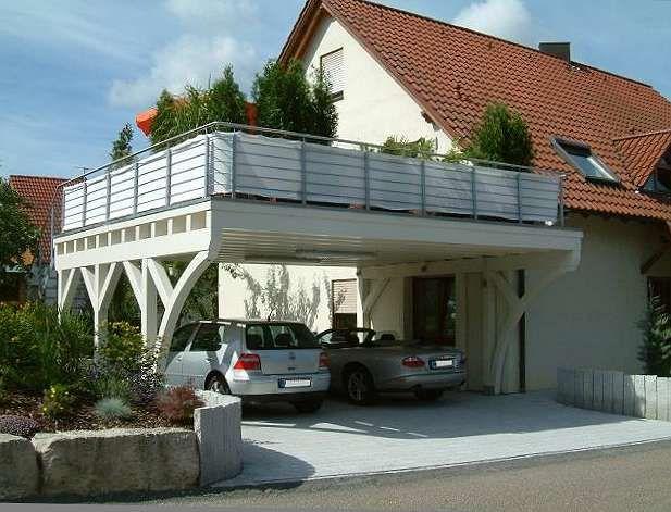 Balkon Carports Mit Terrasse Carports Holz Stahl Alu In 2020 Carport Terrasse Dachterrasse Carport Balkon Bauen