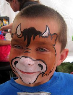 cow or horse (minus the horns) face paint