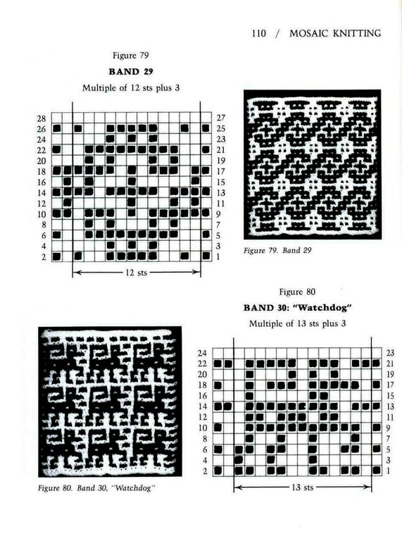 Mosaic Knitting Barbara G. Walker (Lenivii gakkard) Mosaic Knitting ...
