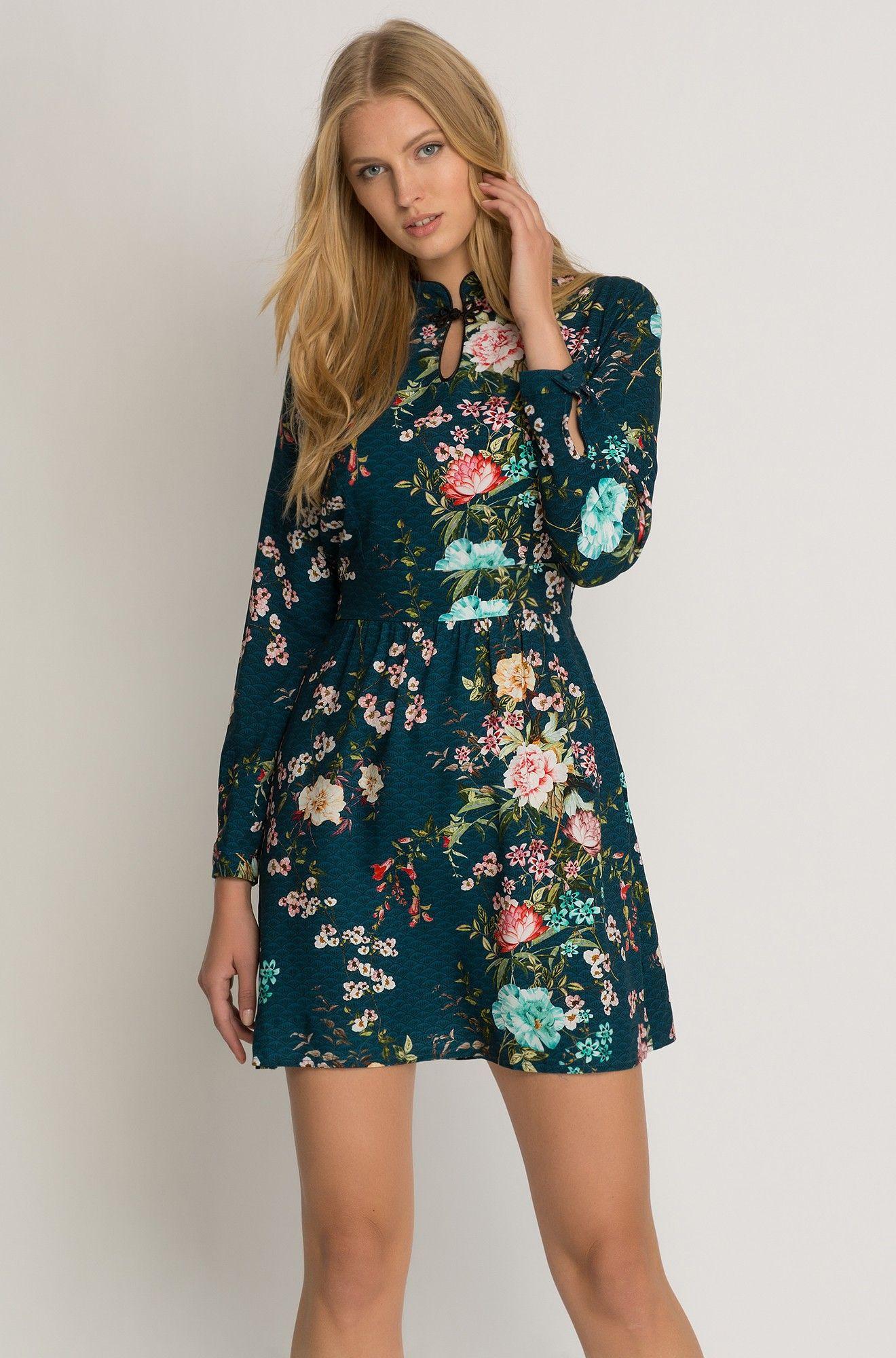 kleid mit blumen-muster | orsay | kleider damen