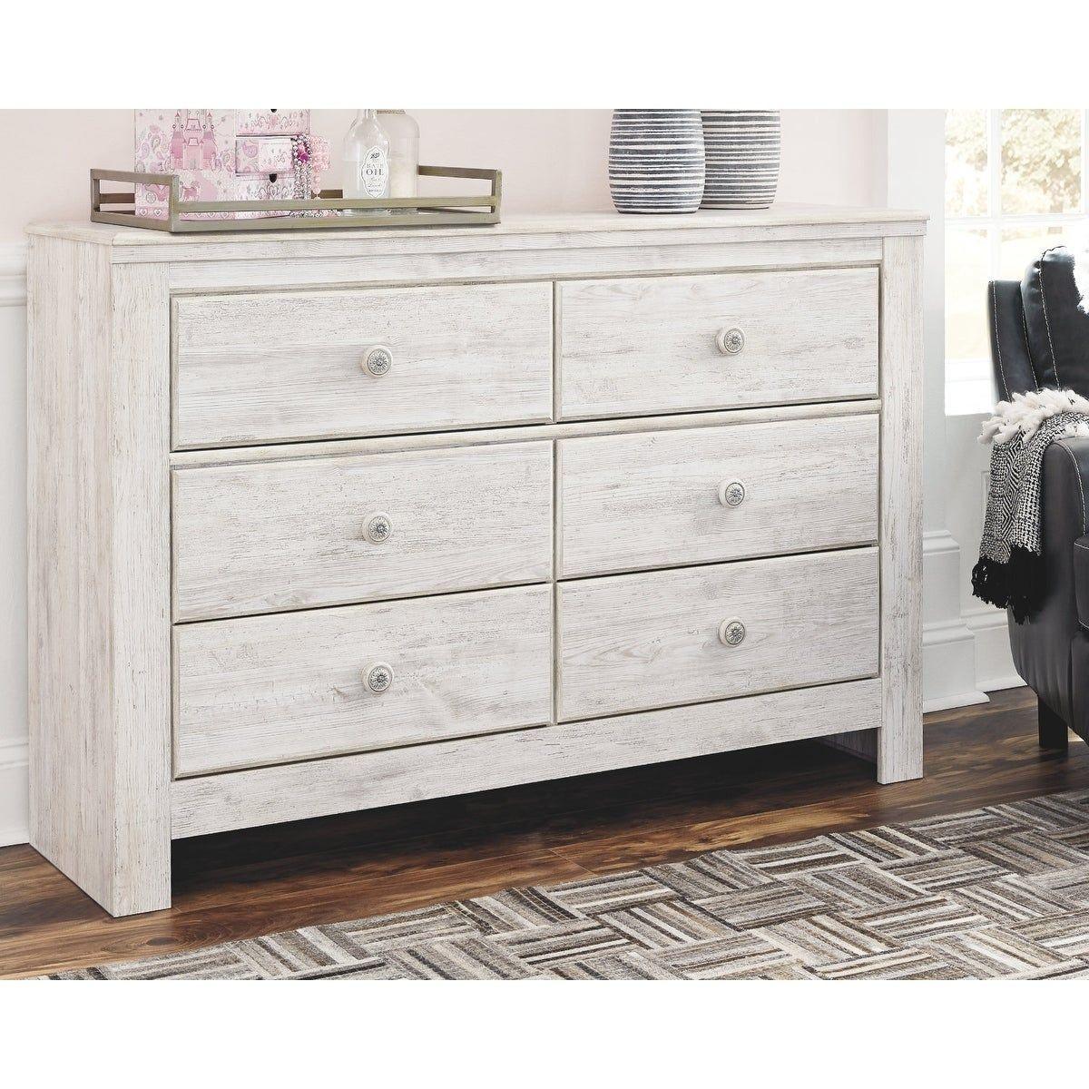 Paxberry Whitewash 6Drawer Dresser, Signature Design by
