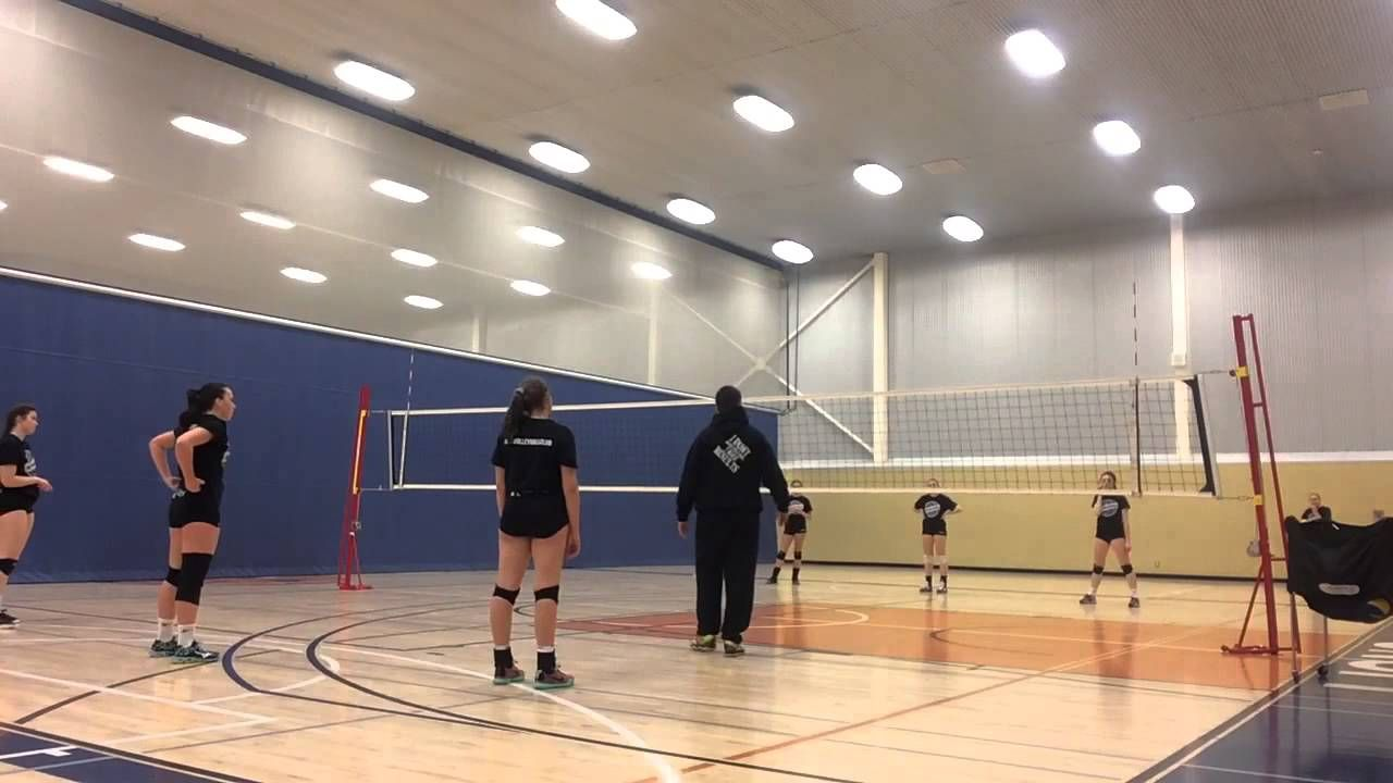 Ace Volleyball Club Training 3 Ball Serve Receive Wave Drill Coaching Volleyball Volleyball Drills Volleyball Clubs