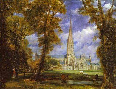 """""""Salisbury Cathedral from Bishop's Grounds"""" by John Constable"""