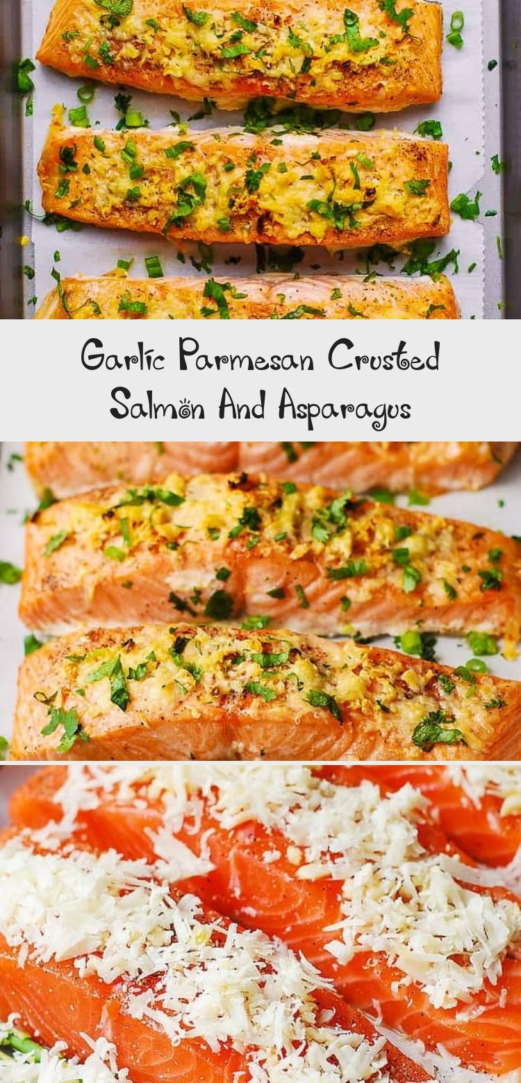 Photo of Garlic Parmesan Crusted Salmon And Asparagus – Health
