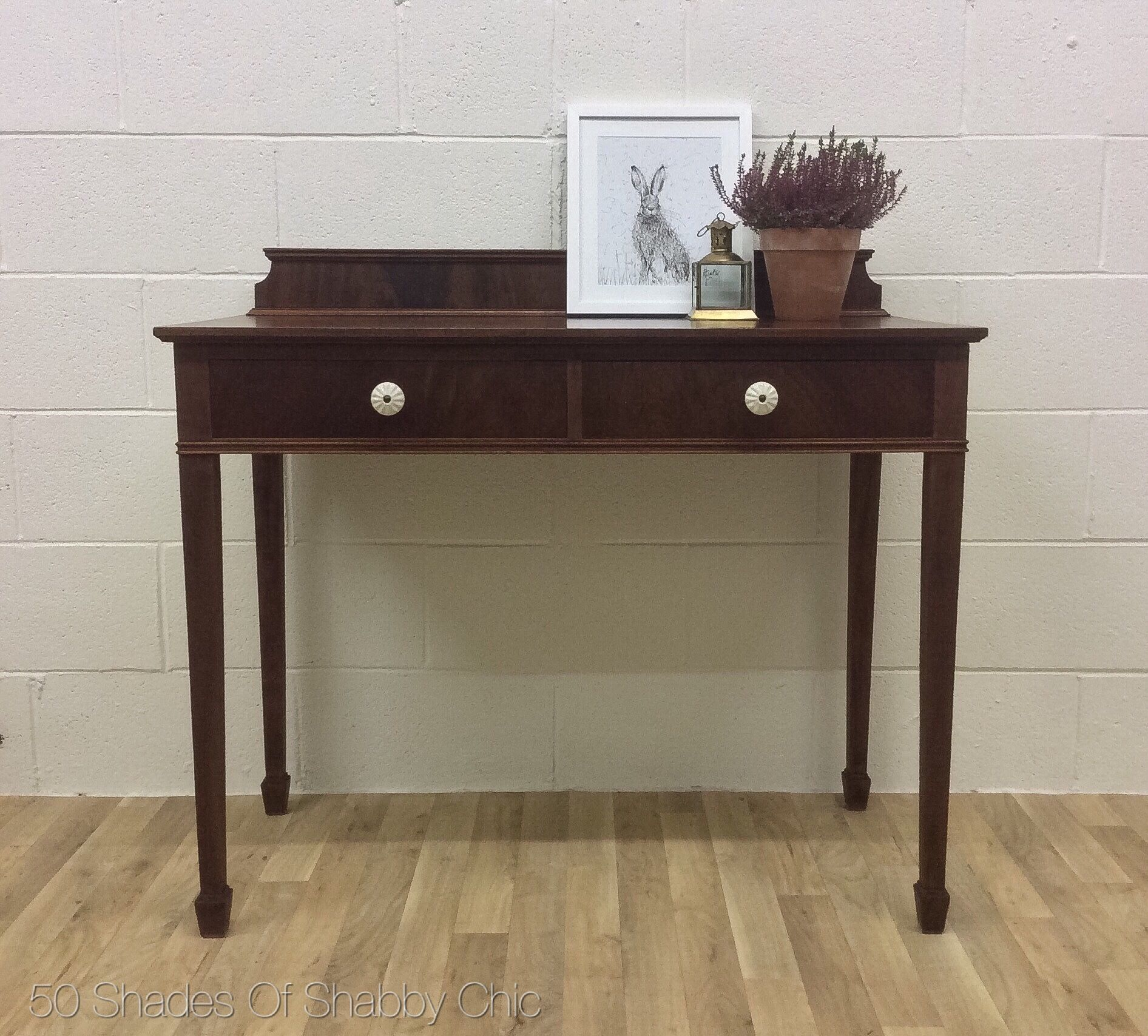 Antique french country style mahogany 2 drawer writing desk antique french country style mahogany 2 drawer writing desk console hall dressing table geotapseo Gallery
