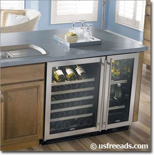 Under Counter Wine Cooler Tips And Advice Kitchen Island Storage