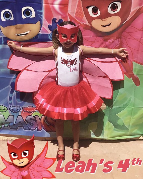 PJ Masks Supereroe Bambini Bambino owelette Costume Maschera Di 3-4 anni