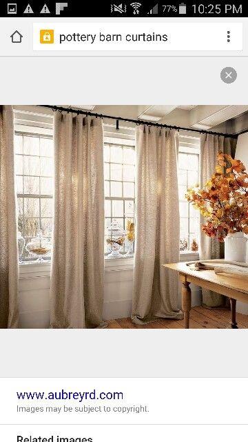 Curtains 4 Panels Along 3 Windows