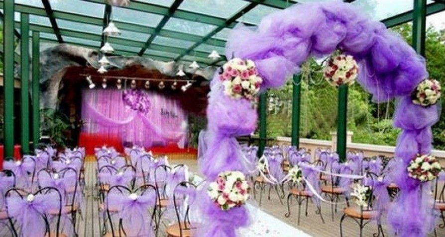 Purple Wedding Reception Decoration Ideas Picture