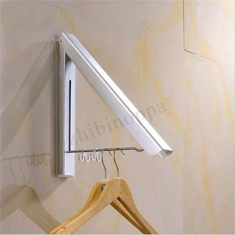 This Item Is A Wall Mount Clothes Rack Hanger Which Is Made Of Durable Aluminum Stainless Steel And N Clothes Hanger Clothes Drying Racks Drying Rack Laundry
