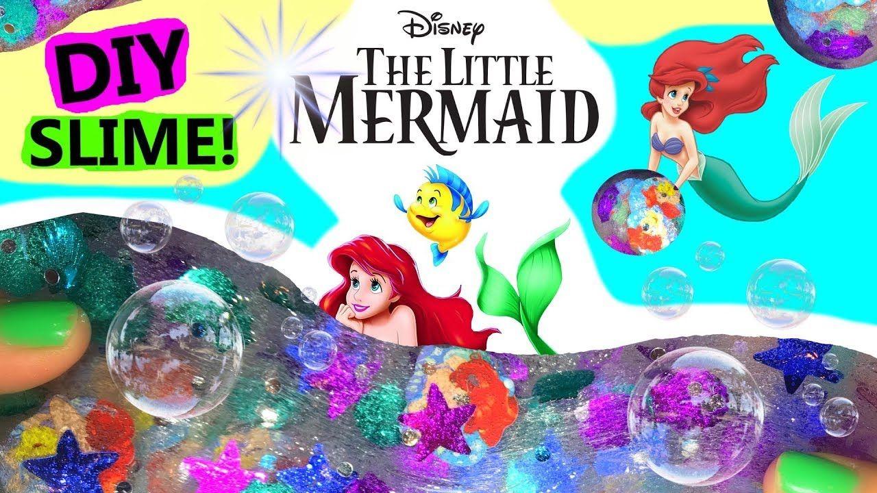28a73357a53 Disney Princess The little mermaid ARIEL DIY slime putty with cute  slime   mermaidslime  disney  disneyprincess  unicoe rnslime  slime  youtube   kidscraft ...