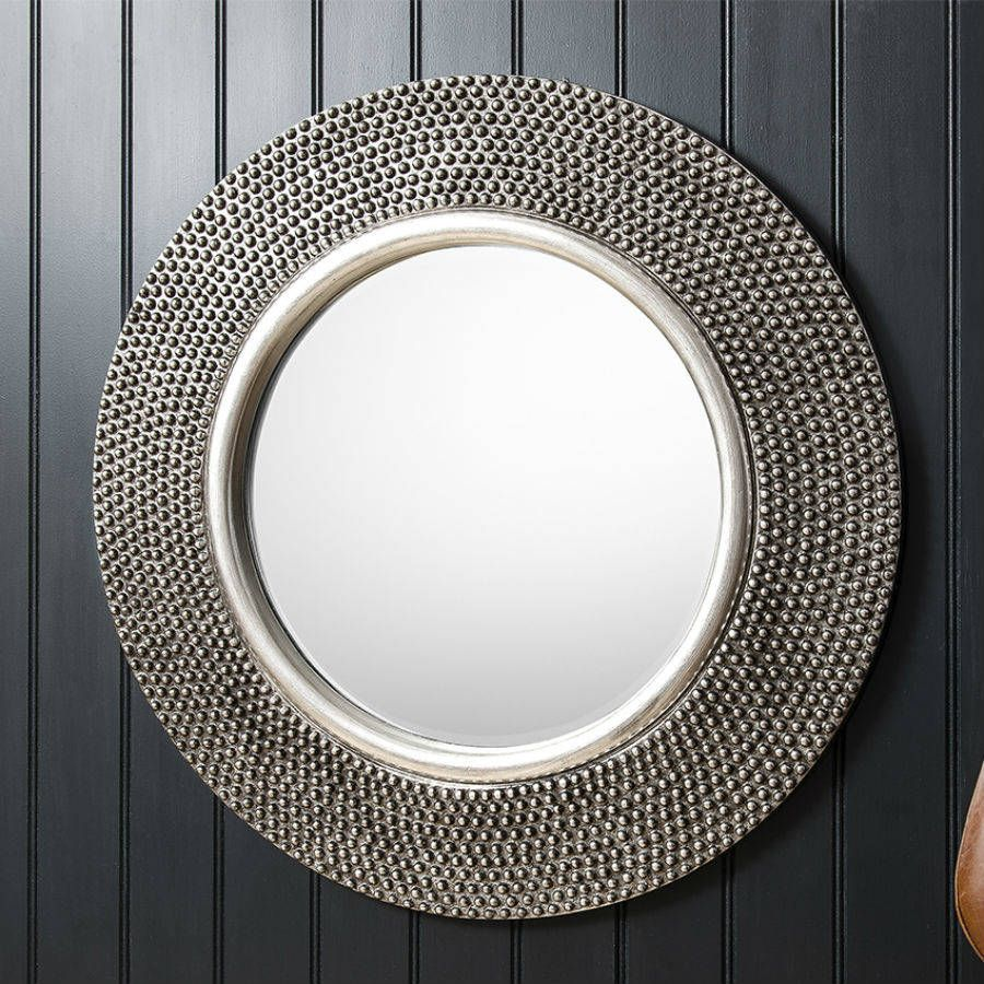 Pewter finish circular mirror circular mirror composite a glamours circular mirror with a differenceve your interior the finishing touch with this amipublicfo Gallery