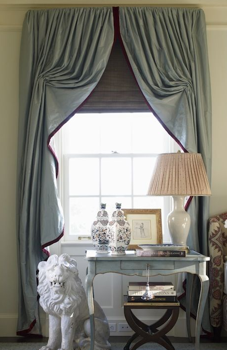 Classic Stringed Curtain With Contrasting Edge Curtains Window