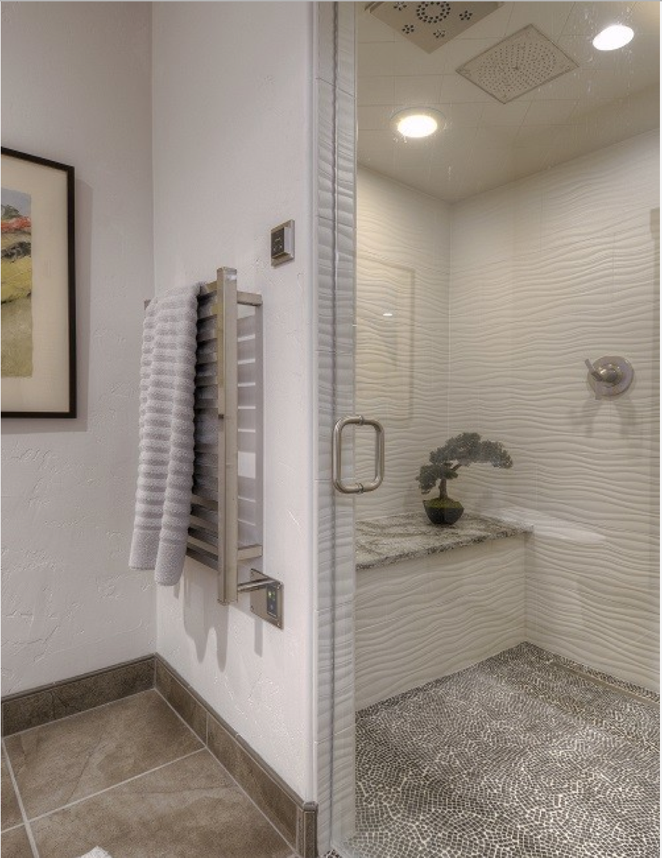 Rain shower head, seat in shower, large enough shower http://www ...