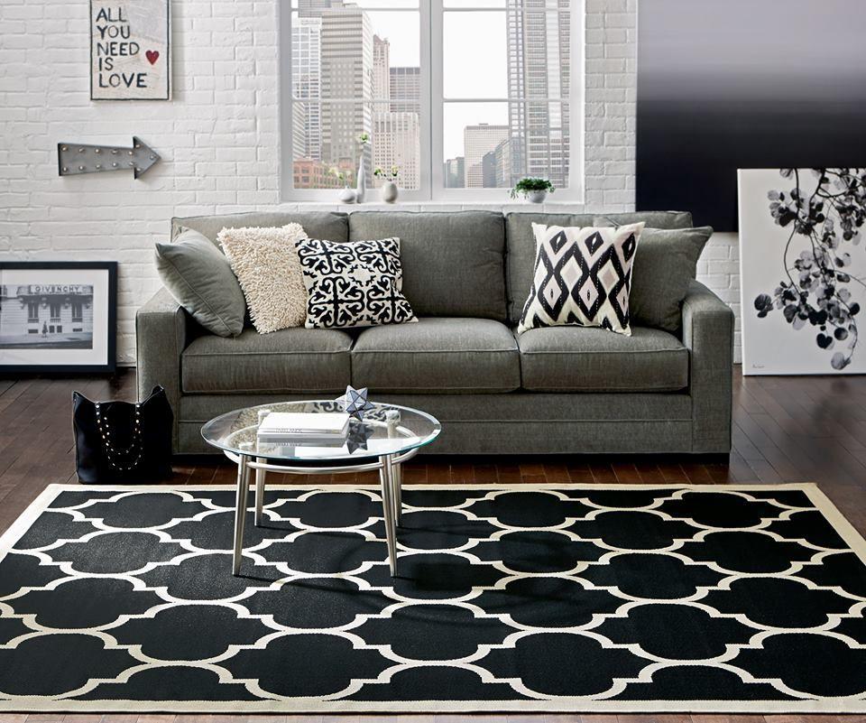 Cute Stylish White And Black Rug Home Decorators Collection Home Decor Sofa