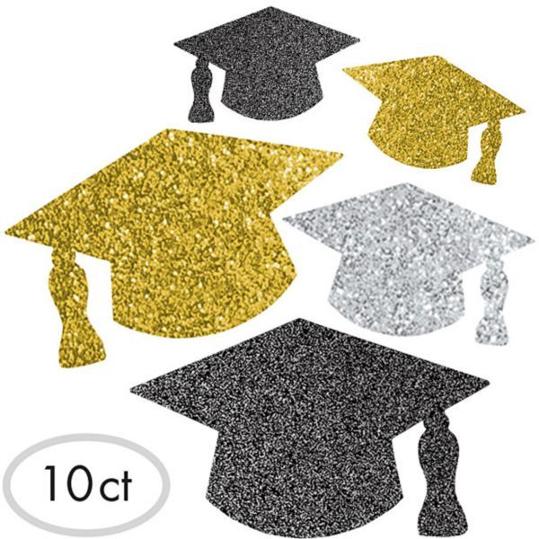Graduation cap glitter. Grad cutouts ct misc