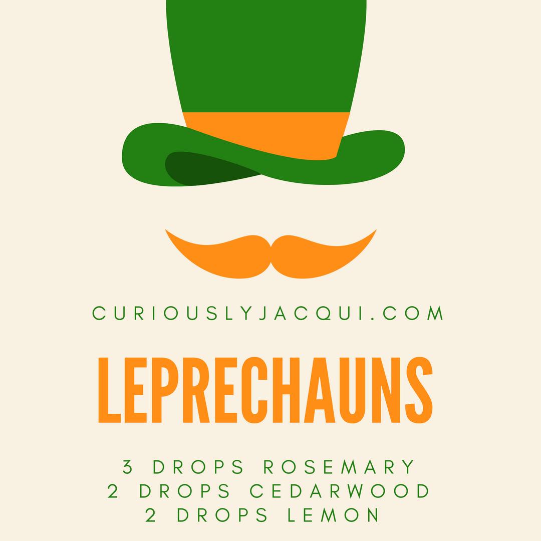 Leprechauns Diffuser Recipe St Patrick 39 S Day Diffuser Recipes Curiouslyjacqui Essential